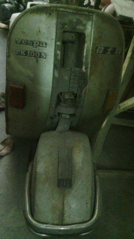 【太輪車業】偉士牌PK100原廠車台,非引擎,烤漆老車古董