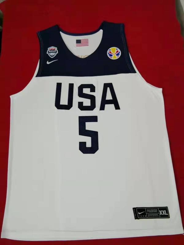 多諾萬·米契爾 (Donovan Mitchell) NBA世界盃美國夢幻隊 5號 球衣 白色