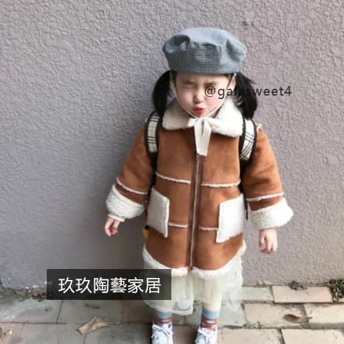 韓版新款秋冬兒童帽子 男女童潮格子無檐帽寶寶系帶貝雷帽南瓜帽