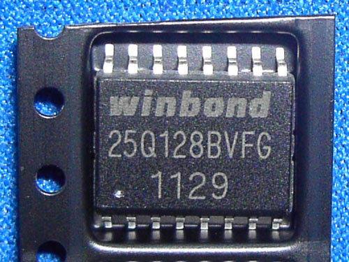 華邦 W25Q128BVFG  W25Q128BVFIG  路由器韌體  sop-16封裝(容量16mb)有代燒