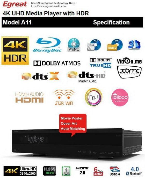 週年慶 億格瑞 Egreat  A5  A10  A11升級特裝版代購 4K HDR UHD藍光原盤選單