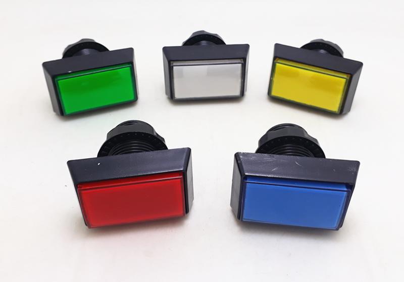 長方形斜邊帶燈按鈕   遊戲機按鈕  格鬥按鈕  附燈及微動