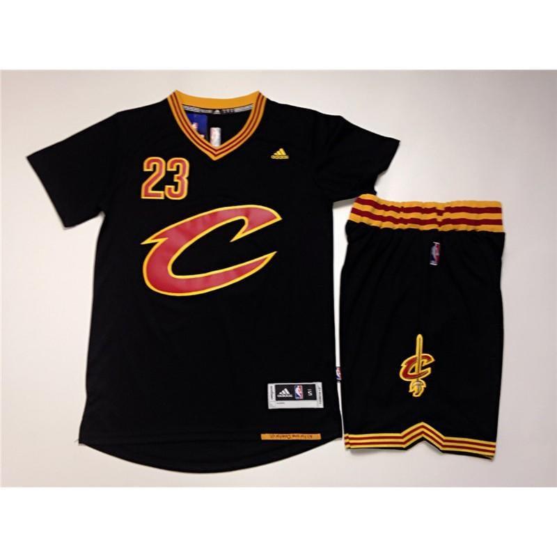 現貨 NBA球衣 詹姆斯 騎士23號 黑色 短袖上衣 童裝 籃球服 套裝 短袖T恤
