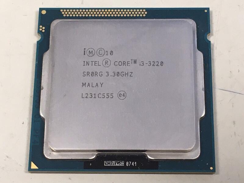 良品 LGA 1155 Intel I3-3220 3.3G 2C4T 雙核四線 虛擬四核心 CPU