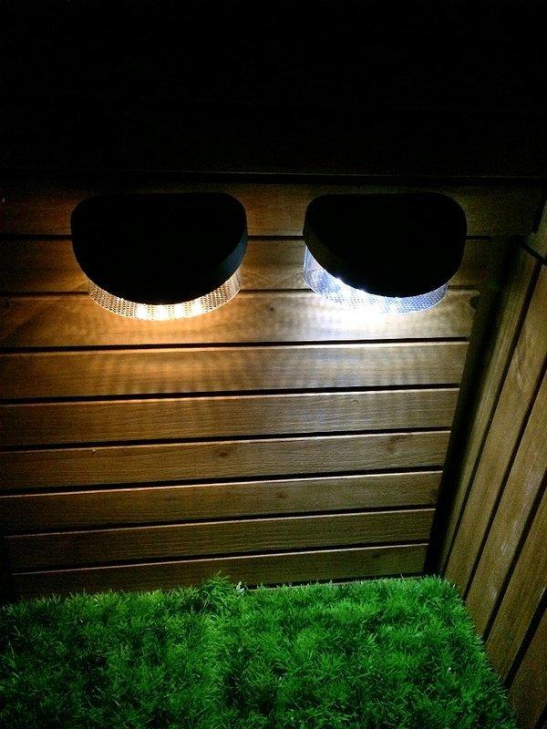 ☀️傑能科技☀️保固 正品 加大號 8LED 太陽能 籬笆燈 圍欄片 柵欄燈 圍欄燈 壁燈 花園燈 L-08面向陽光