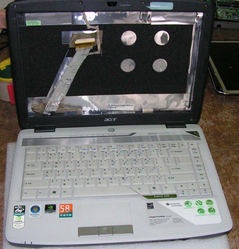 《福和筆電》Acer 4520G 零件機 主機板 面板B141EW02 V1 顯示卡 8400M 8600M 故障維修
