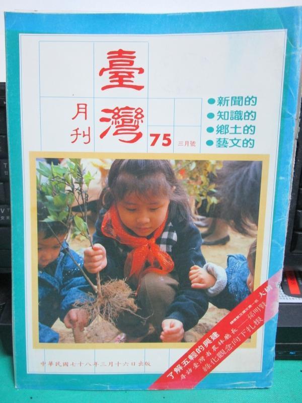 candy尋寶樂園...臺灣月刊第75期--78年3月--台灣省政府