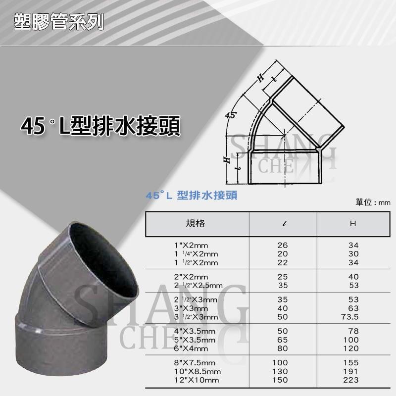 """【最便宜的二手商店K】市價30元 南亞 PVC 45度 排L 10""""x45度 L型排水接頭 彎頭 ~目前優惠只要20元"""