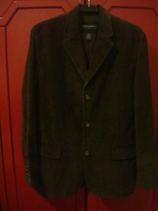【BANANA REPUBLIC】深棕色棉絨西裝休閒外套 L號