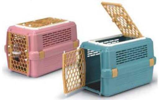 ☆COCO☆ACEPET上開天窗型運輸籠/外出籠/提籠AP-843_粉紅色、藍色兩色可選