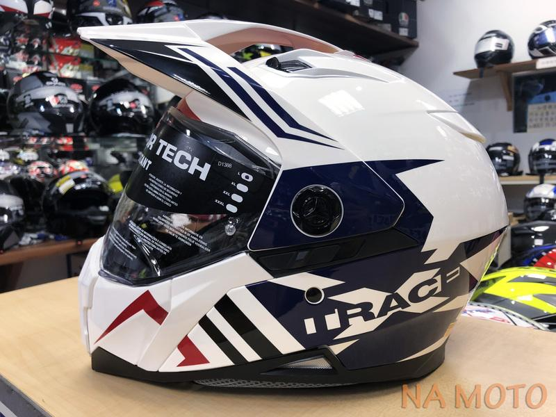NA MOTO 義大利 CABERG XTRACE 越野帽 鳥帽 滑胎車 內墨片 透氣 歐式插扣 白藍紅 現貨 歡迎提問