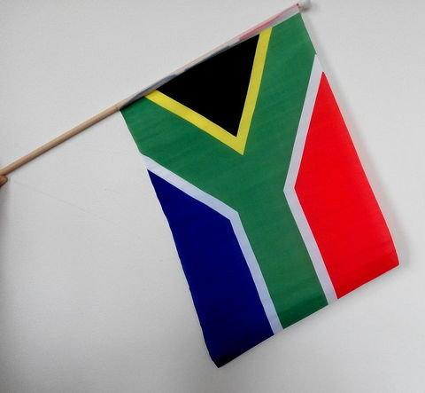 南非手搖旗。旗面 50 x 30公分。旅遊 探親 交換學生 球賽 啦啦隊加油 商店佈置賣場 活動 展覽 FIFA世足球賽