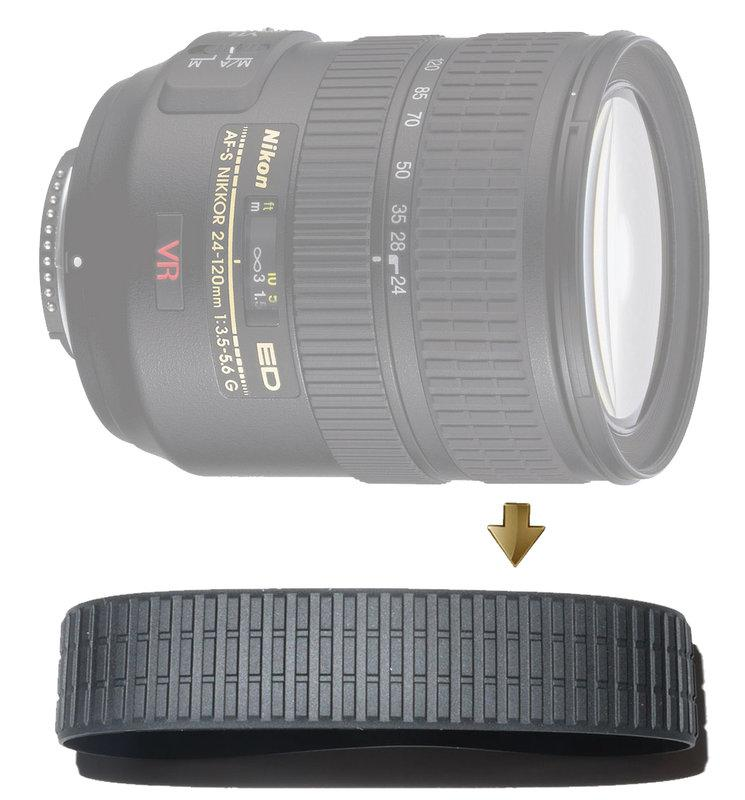 Zoom Rubber Ring for Nikon 24-120mm F3.5-5.6G VR 變焦環