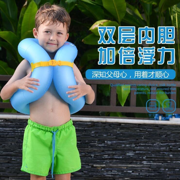 【新鮮上貨 全館免運】加厚兒童泳圈成人腋下浮圈兒童游泳圈3-6歲男【脆殼蟹】