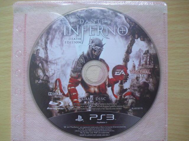 ※隨緣※PS3.Dante's Infern:但丁的地獄之旅 ㊣正版㊣值得收藏/光碟正常/裸片包裝.一片裝 350 元