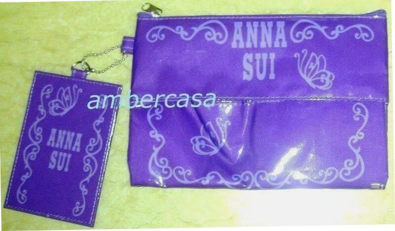 安娜蘇 ANNA SUI  華麗時尚包夾組 [化妝包+票卡夾]