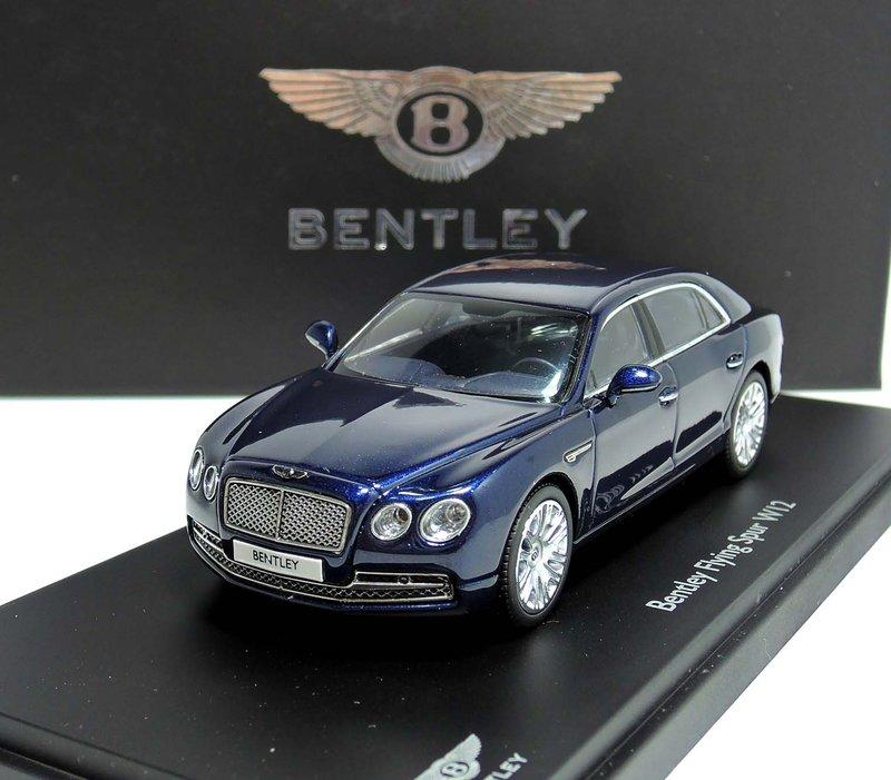Bentley Flying Spur Tuning Ab 2015: 【M.A.S.H】[現貨瘋狂價] Kyosho 1/43 Bentley Flying Spur W12 Blue