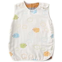 【RC SHOP 嬰兒用品】奇哥雲朵羊六層紗防踢背心-M