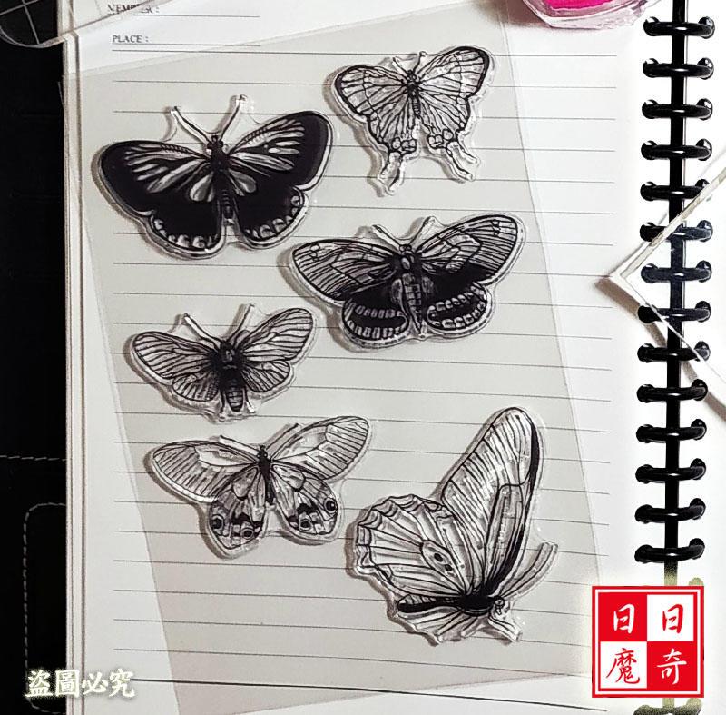 [CS1600] 透明印章圖章 蝴蝶