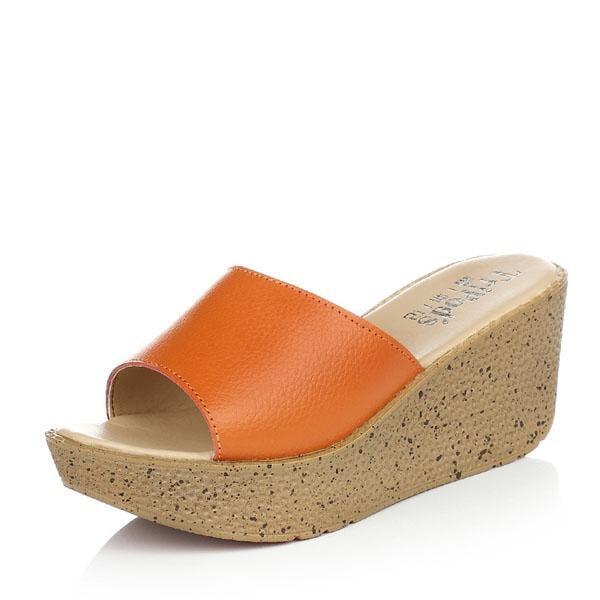 夏季女涼鞋 厚底一字拖鞋z68 一級棒Al免運 可開發票