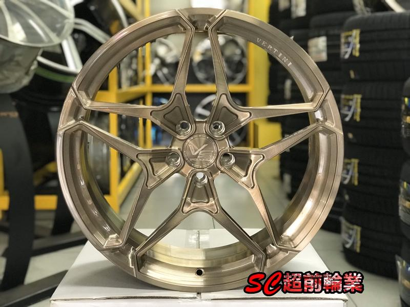 【超前輪業】VERTINI VS17 鍛造鋁圈 20吋鋁圈 5孔114 100 112 108 120 130 客製顏色