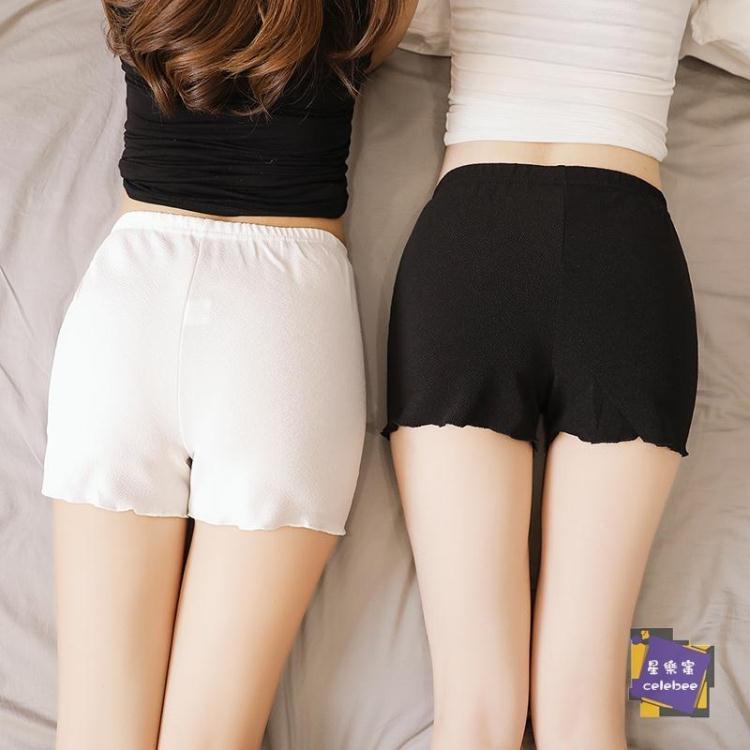 【可開發票】內搭短褲 寬鬆安全褲防走光女夏內穿打底褲薄款外穿白色大碼防狼保險褲短褲 多色S-2XL—聚優購物網