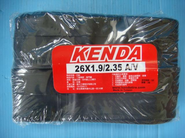 (動力方程式單車)KENDA 建大 26吋 26x1.9/2.35 美嘴 登山車內胎 丁基橡膠