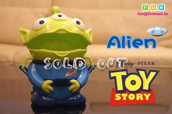 【FUN】<Sold Out! 售完!!> 迪士尼 三眼怪 糖果罐 糖果盒 (非LEGO、爆米花桶、夾娃娃機、火箭)