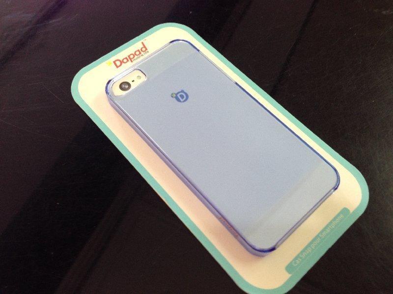 *V&C潮流*原廠DAPAD APPLE iPhone5S iPhone 5S 0.09公分 藍水晶 超薄磨砂殼 背殼 保護殼 保護套 手機殼 加螢幕保護貼60起