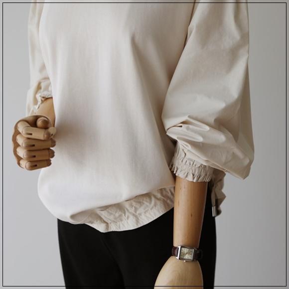 韓國妹 【cb44292】 ❤(韓國連線 ) 美麗縮口線條設計上衣 ❤ 3色