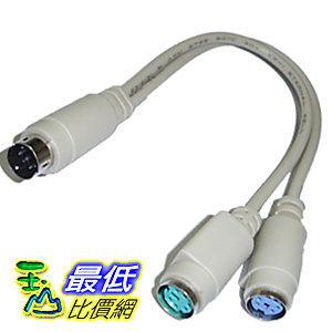 [玉山比價網] (筆電用) 20CM 1對2 1公2母 PS2 鍵盤/滑鼠 擴充/連接線 (12036_ R212)