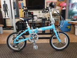 [樂單車] OYAMA M100 MINI 16吋 6速 折疊車 水藍色