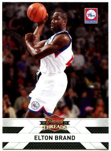 "(L) NBA-10-11-Panini Threads  #64 費城76人隊 明星大前鋒  ""選秀狀元"" Elton Brand 精美球員卡一張"