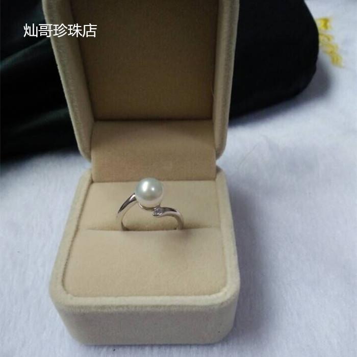 時尚氣質 淡水珍珠戒指 925純銀 可調節