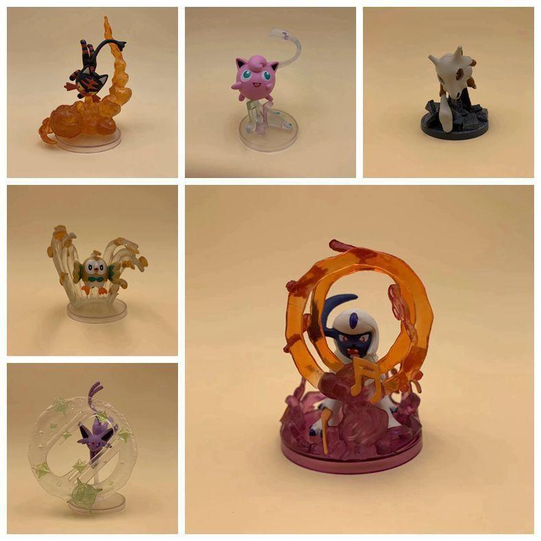 惠美玩品 神奇寶貝 其他 公仔 1910 口袋妖怪 雷 火 月亮 伊布 皮卡丘 招式小精靈 六款一套