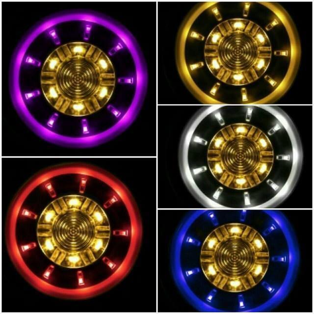 KOSO 釷星雙色LED反光片 LED 反光片 釷星 雙色 燻黑殼 二代款 可接方向燈 60mm Force 155