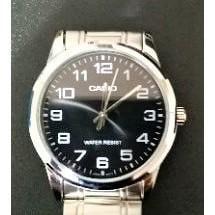 [ 實裝圖 ]  圓形手錶鋼化膜 玻璃膜   可用於 CASIO 城市潮流紳士數字指針錶 MTP-V001D-1B