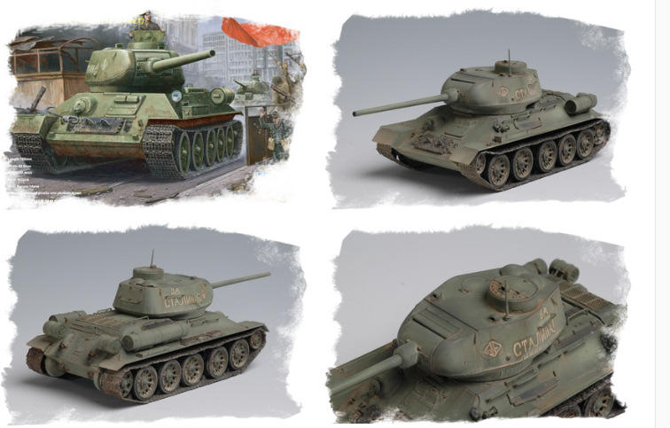 Trumpeter 小號手 1/48 蘇聯 T-34/85 1944年 中型戰車 坦克 二戰 俄羅斯 組裝模型 塑膠模型
