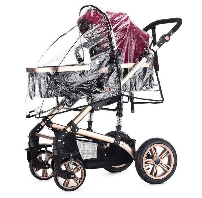 防風雨罩teknum嬰兒推車雨罩防風防雨保暖透明四季通用高景觀兒童車雨披