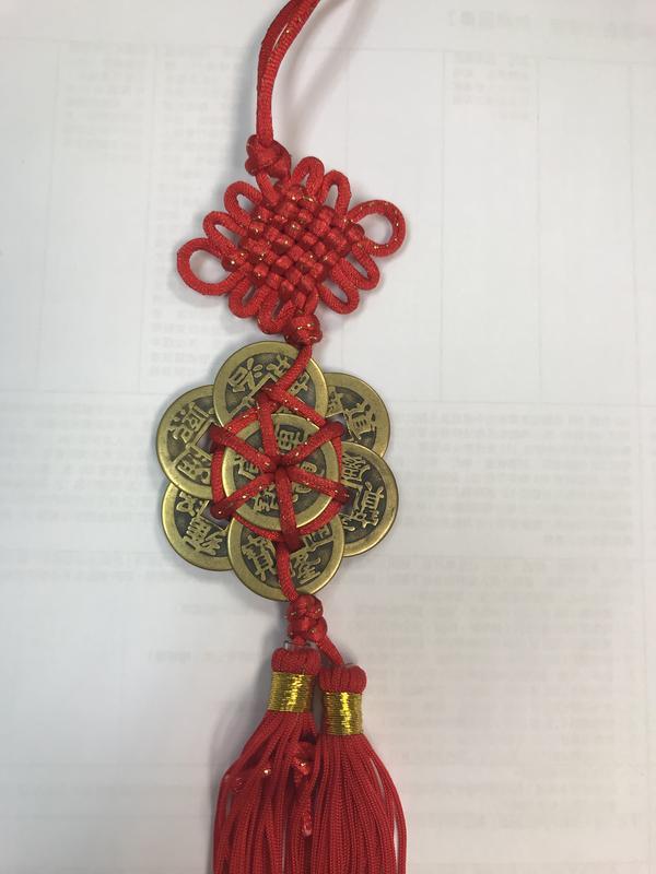 梅花銅錢 中國結吊飾 掛飾(可旺財 升官 除 厄運 化小人)$280
