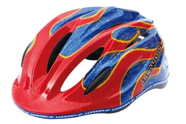 【普威 單車 直排輪 自行車安全帽】K800 牛仔火焰 S size 台灣製 普威安全帽 兒童專用 PUSHBIKE專用