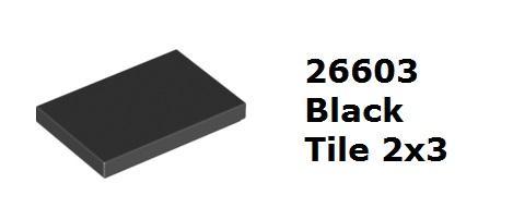 【磚樂】LEGO 樂高 26603 6162892 Black Tile 2x3  黑色 平滑板