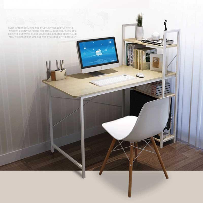 簡約風層架收納工作桌 快拆 組裝 簡便 側櫃 書桌 辦公桌 電腦桌