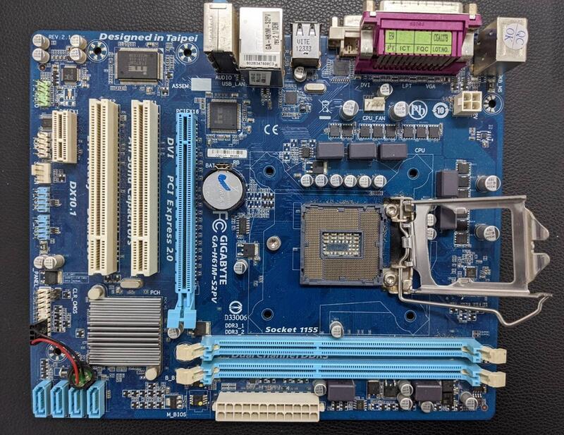 專業電腦量販維修 二手技嘉GA-H61M-S2PV主機板 嚴檢良品 每片499元