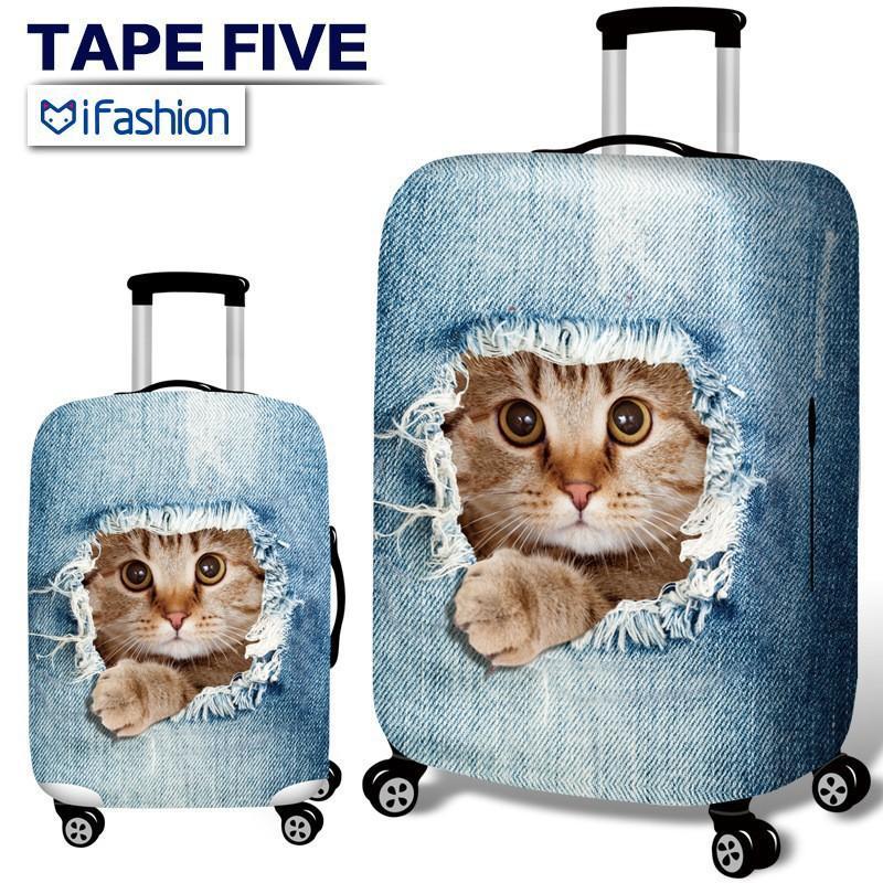 牛仔系列行李箱套彈力旅行箱套行李箱保護套拉桿箱防塵罩子18/20/24/28/30/32寸加厚耐磨