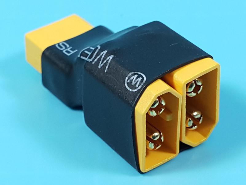<搞啥飛機>XT60 串聯接頭 轉接頭 不含線 AMASS原廠正品 鋰電池接頭 遙控飛機新鮮人第一站