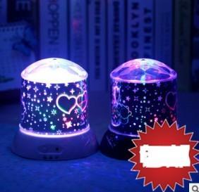 炫彩夢幻星空燈卡通維尼熊旋轉炫彩小夜空燈投影燈聖誕生日