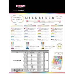 ♡【 小兔森林】150.日本斑馬ZEBRA MILDLINER 雙頭螢光筆 淡色系列 雙頭柔性螢光筆 標記筆 wkt7