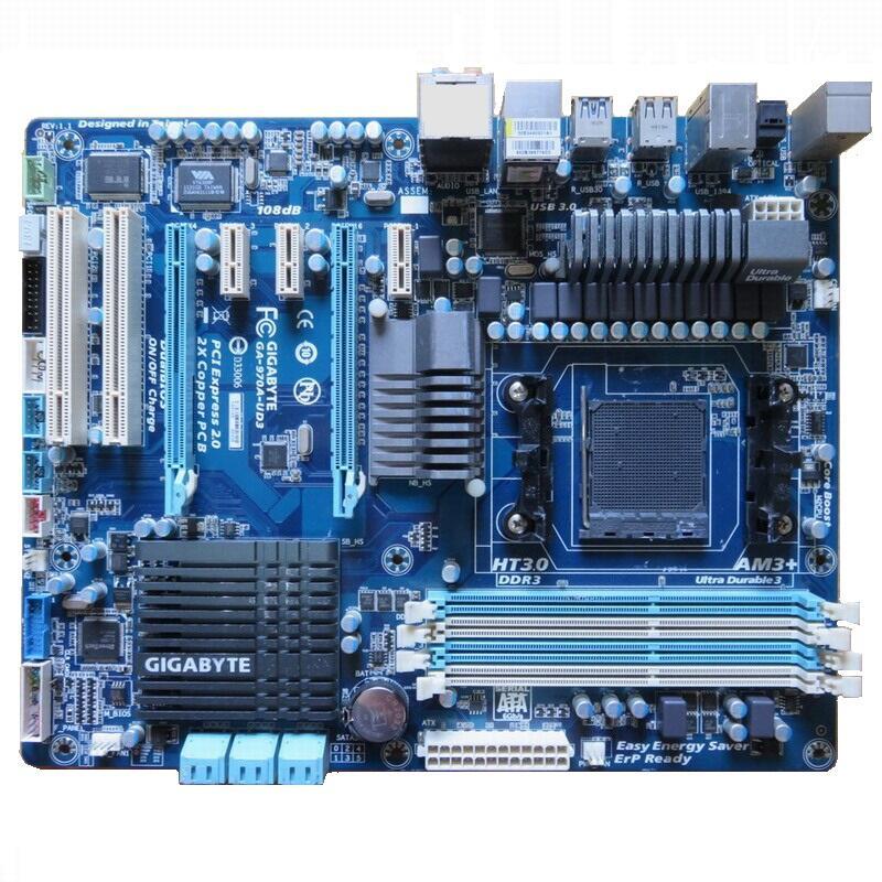 技嘉 GA-970A-UD3 高階主機板、AM3+、故障板、不開機、報帳或維修用