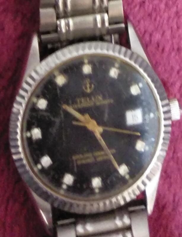 二手是面稀少 鐵力士TELUX手錶(上電池無反應當收藏/裝飾品)